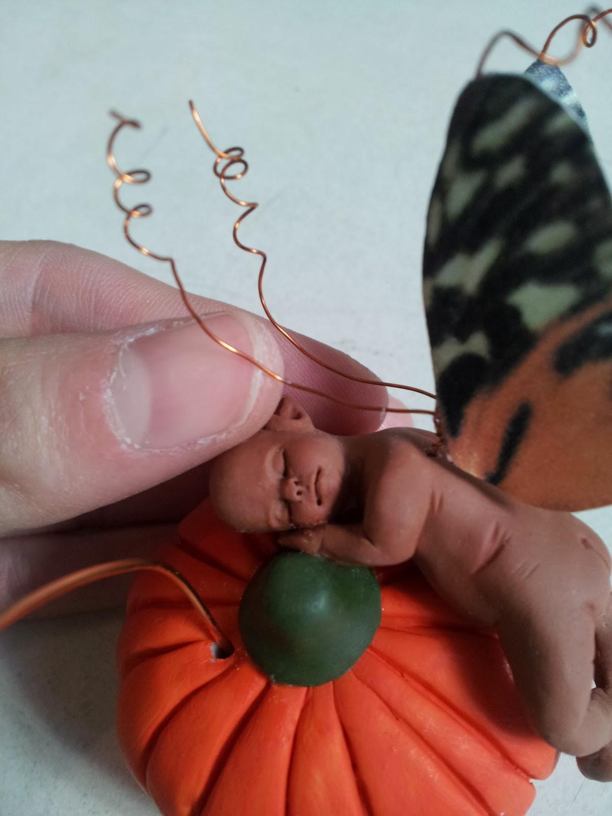 Portafoto minifatina su zucca + orecchini in coordinato  20131018_122543