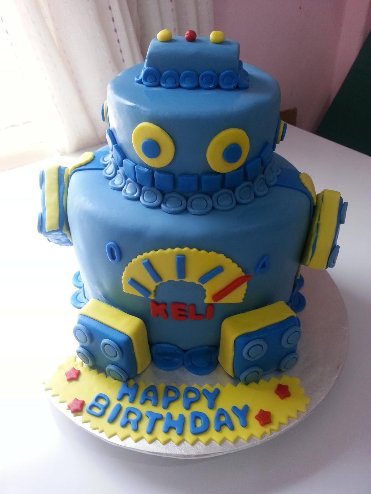 Как сделать торт робота 190