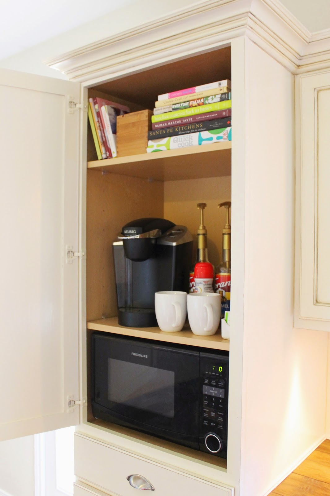 Delicieux Hidden Coffee Storage U0026Trashcan Cabinet