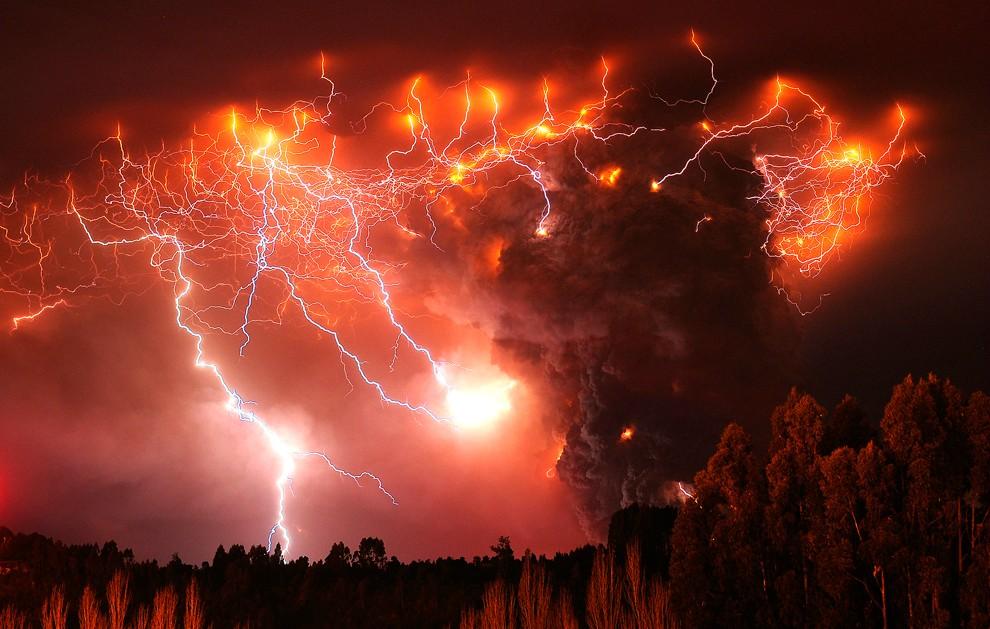 Red Lightning Storm Red lightning