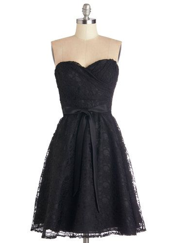 Fabulous Black Strapless Party Dress