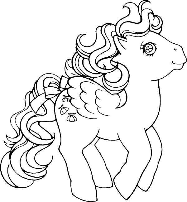 Dibujos animados para colorear: Mi pequeño pony para colorear