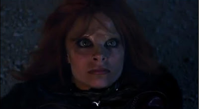Stephanie Leonidas Irisa screencaps battle fear eyes pictures Defiance pilot recap