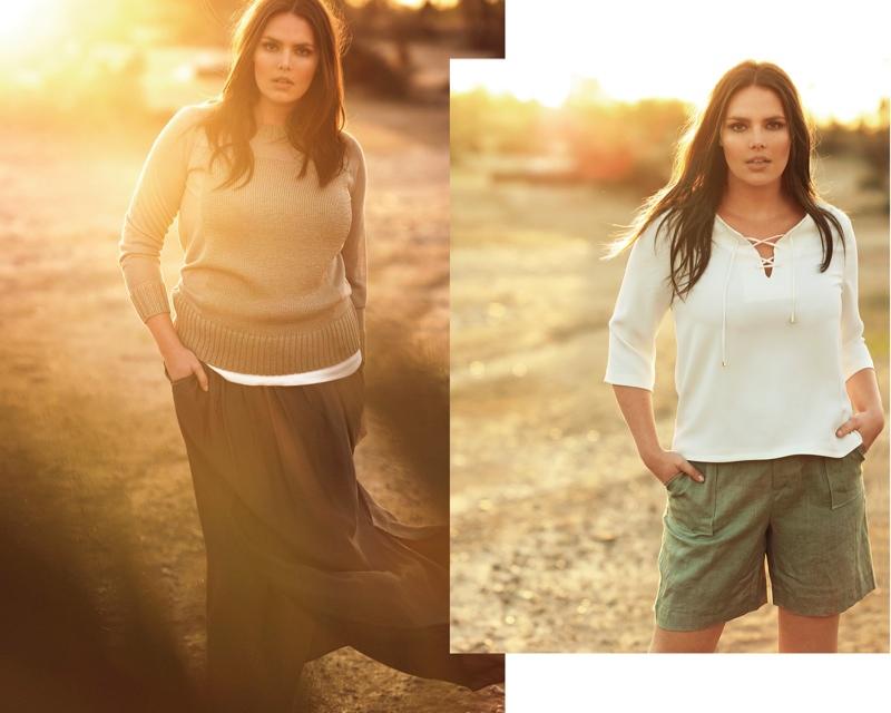 Mango Violeta Spring/Summer 2015 Lookbook featuring Candice Huffine