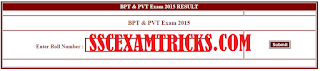 CGVyapam Result for BPT & PVT entrance exam 2015