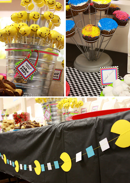 Paper and cake flashback 80s style for 80 theme party decoration ideas