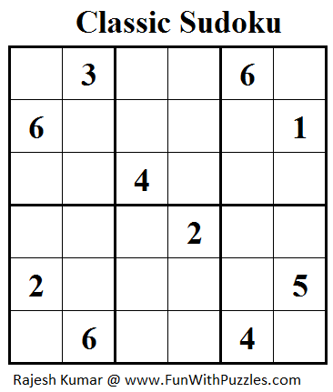 Classic Sudoku (Mini Sudoku Series #43)
