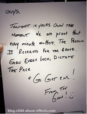 Never Ever Give Up - Letter From Canadian Women's Hockey Team to Men's Team
