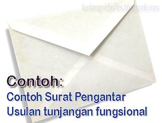 Surat Pengantar Usul tunjangan fungsional