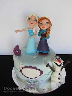 A Anna, a Elsa e o Olaf no 6º aniversário da Maria Miguel