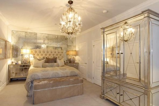 kardashian s former bedroom gorgeous but alittle too much mirror