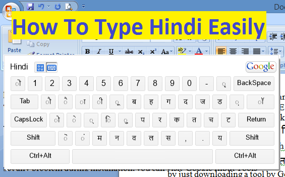 How To Type Hindi(or any other Indian Language) Easily