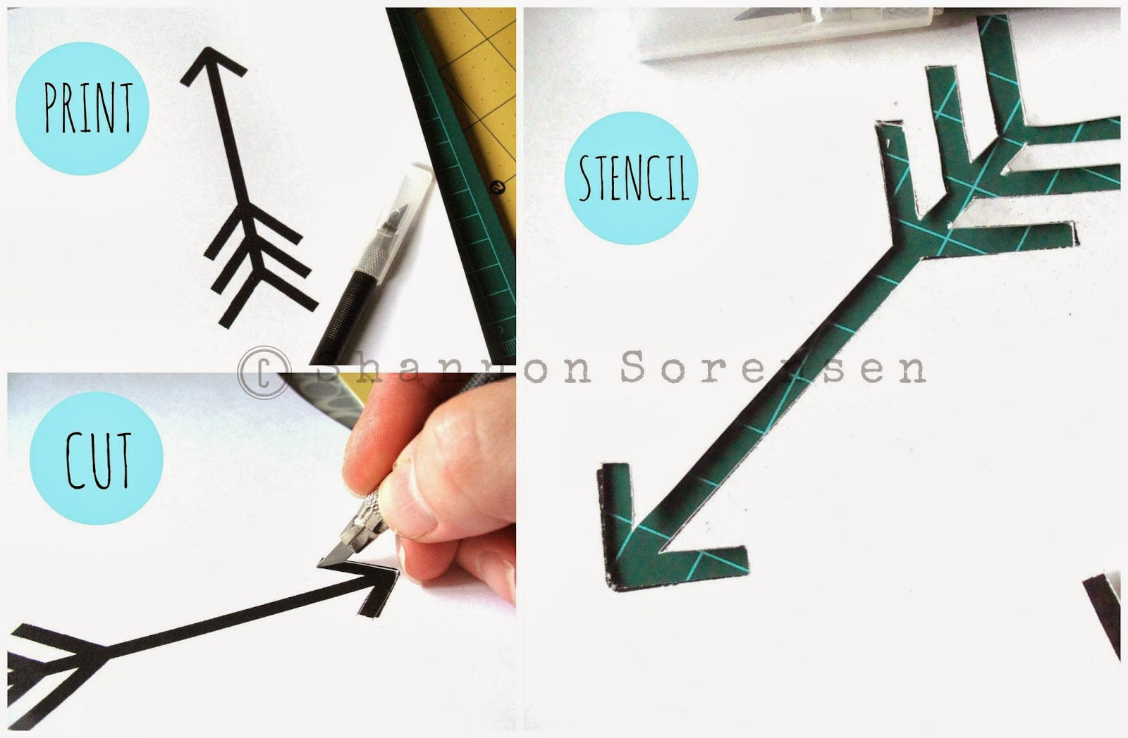 Sewing tutorials crafts diy handmade shannon sews blog for how to create a stencil for arrow t shirt design amipublicfo Images