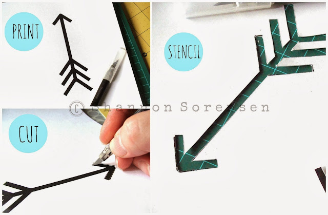 how to create a stencil for arrow t-shirt design