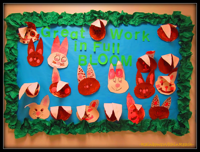 photo of: Easter Bunny Bulletin Board via RainbowsWithinReach