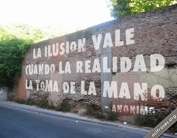 paredes pintadas en la calle, frases de anónimo