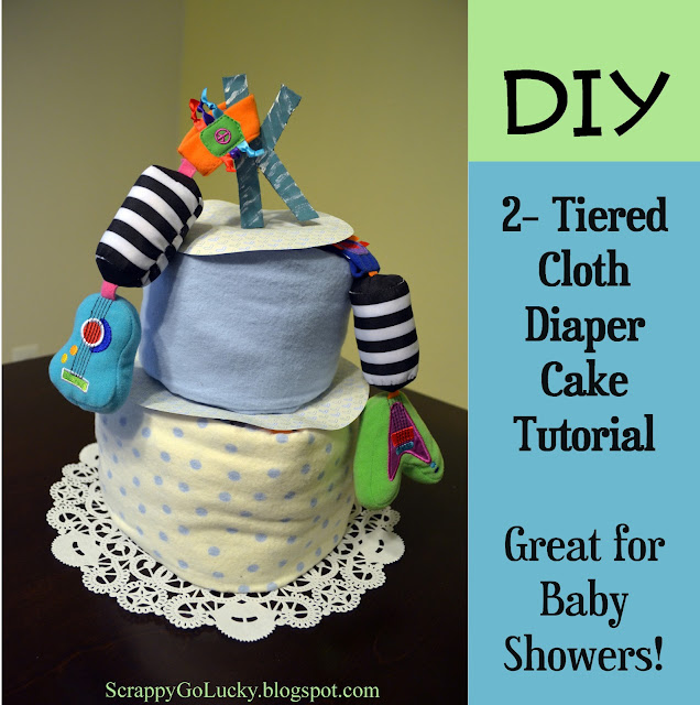 DIY Baby Shower Cloth Diaper Cake