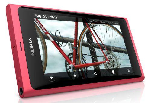 Kırmızı Nokia N9 fotoğrafı