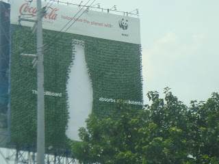 Coca Cola Green Advertisement Campaign in Edsa