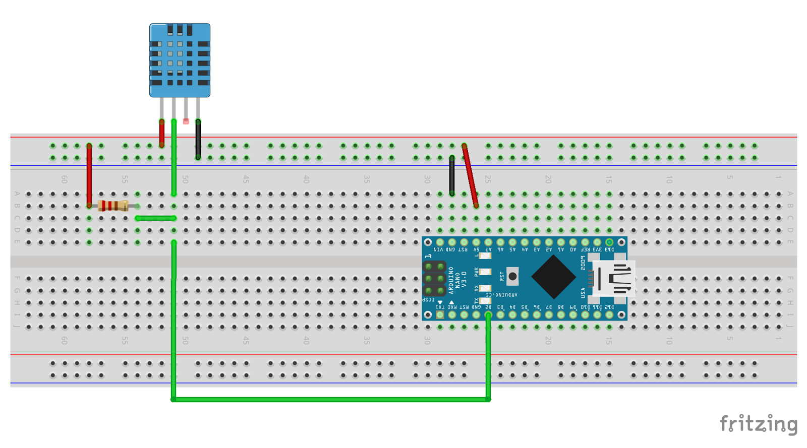 Download dht.h arduino library