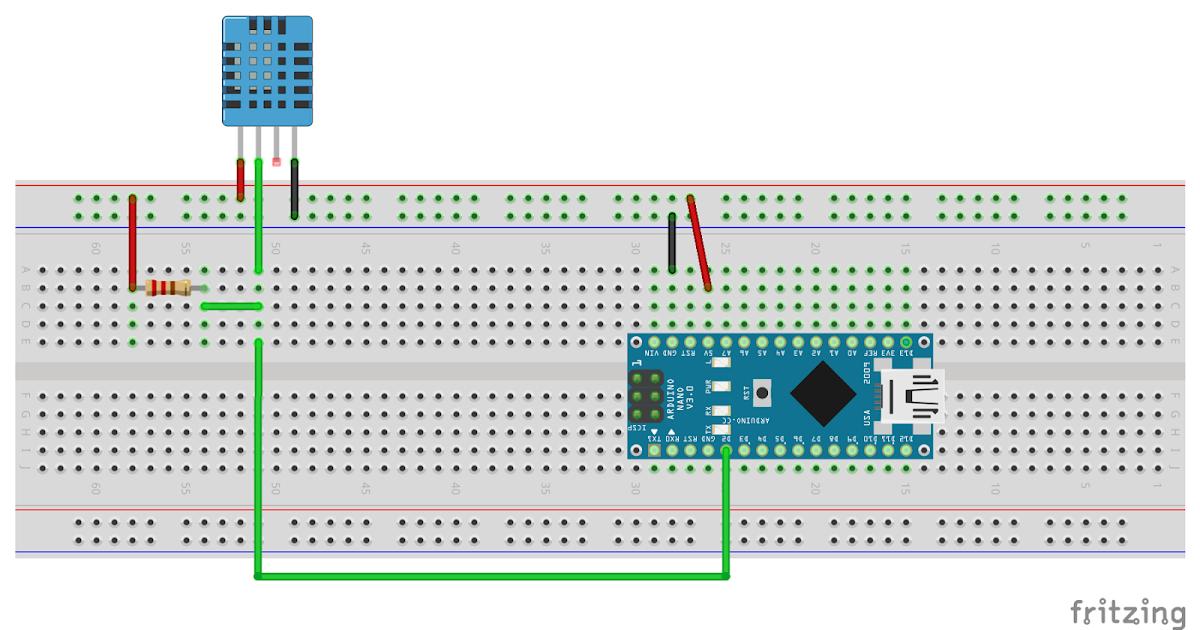 Arduino er nano dht temperature humidity