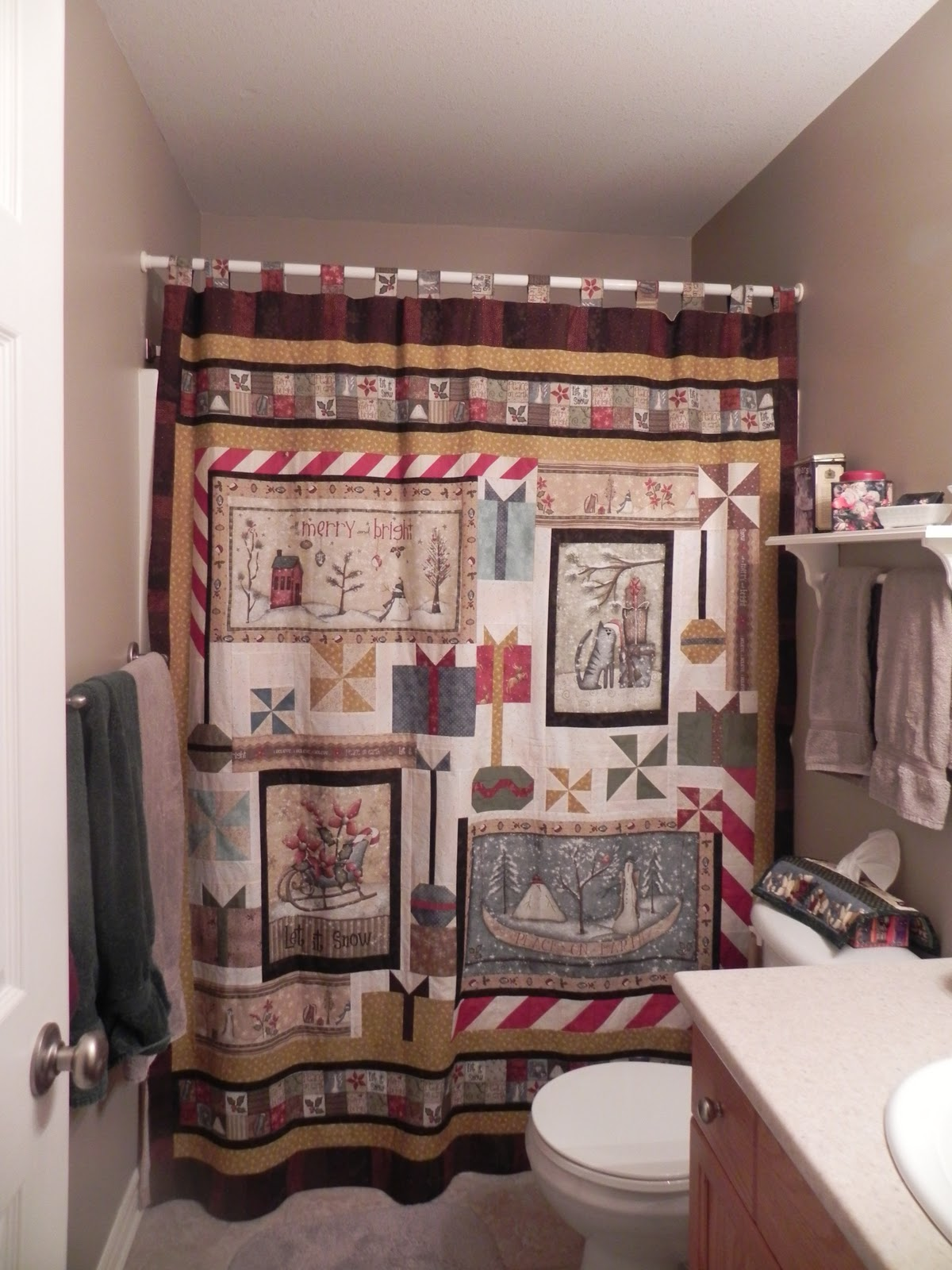 Shower Curtain Quilt
