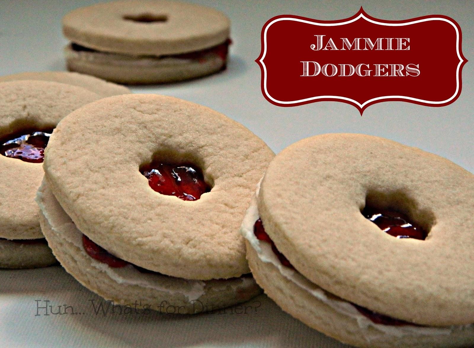 Jammie Dodgers- Secret Recipe Club   www.hunwhatsfordinner.com