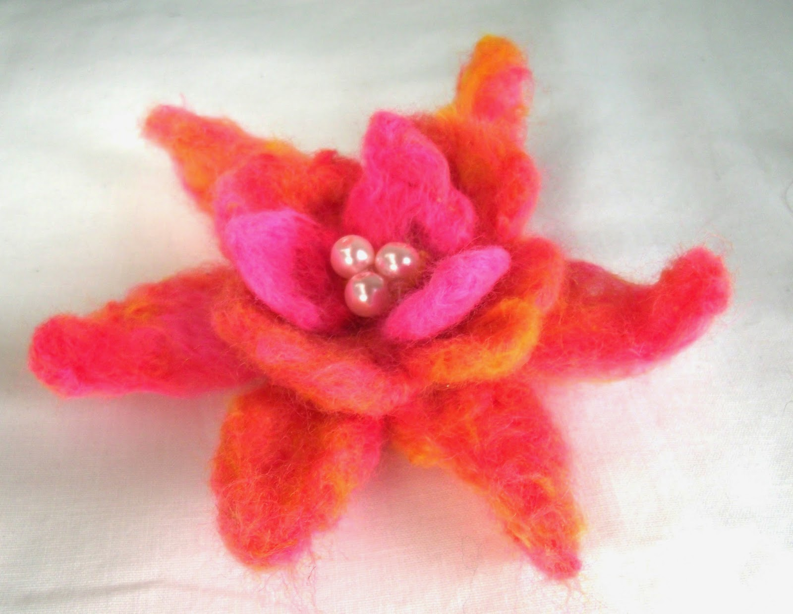 The DIY Fox Needle Felted Flowers