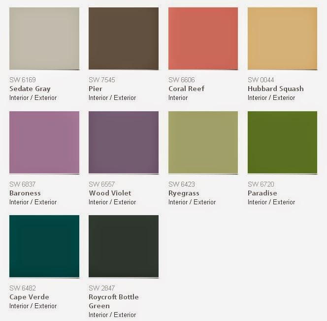 Colores para interiores sherwin williams for Muestras de colores de pintura