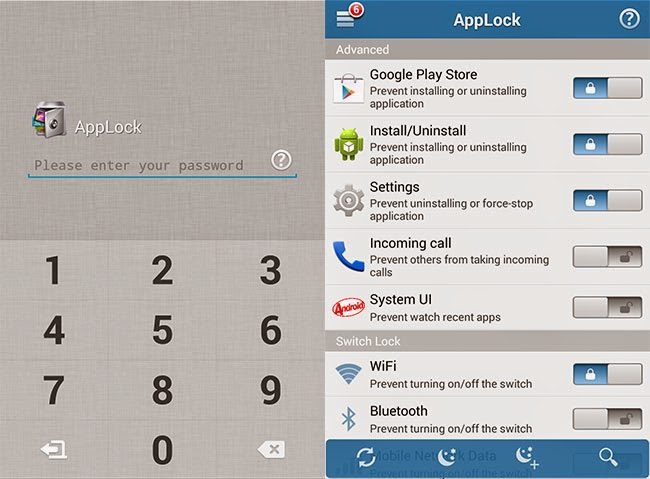 Password Protect Apps and Android Functions with Applock