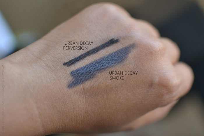Urban Decay 24-7 Glide On Pencil Eyeliner Smoke Indian Makeup Beauty Blog Photos Swatches Review FOTD