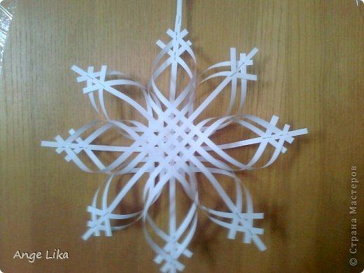 Снежинки объемные из бумаги  на новый год