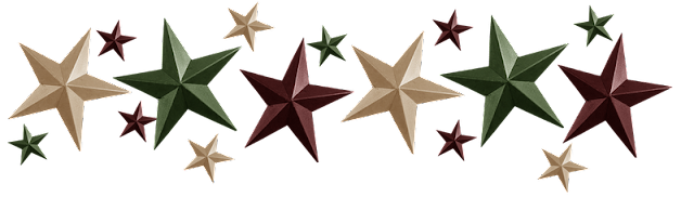 Free Metal Stars Digi Scrapbook Trim