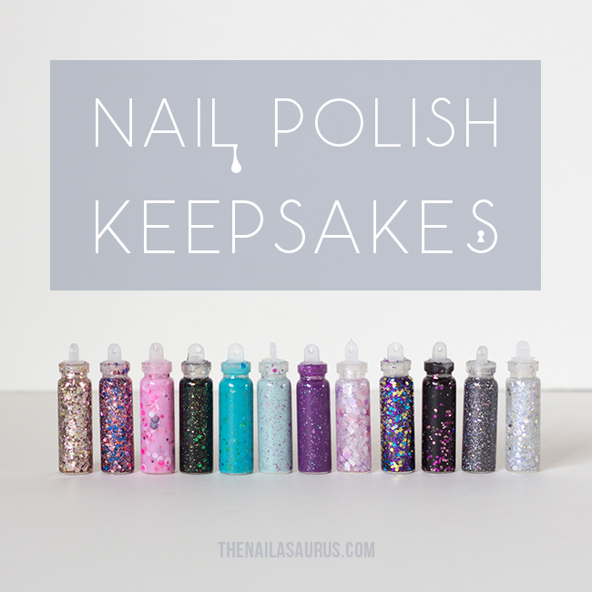 My De-Stashing Story: Nail Polish Keepsakes