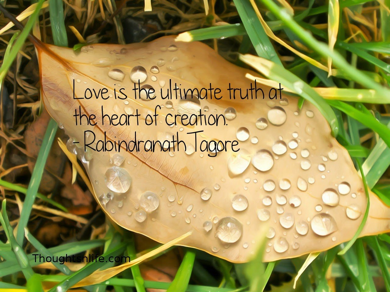 Thoughtsnlife.com: Love is the ultimate truth at the heart of creation. - Rabindranath Tagore