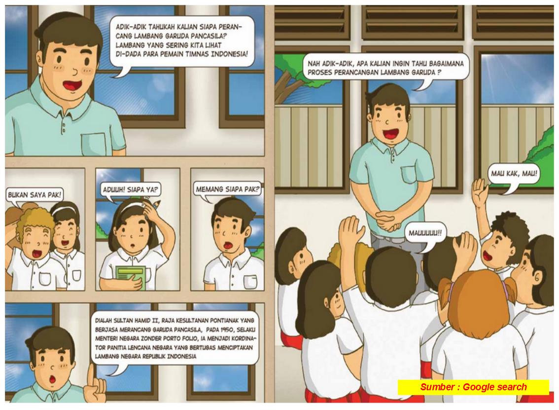 Gambar ilustrasi pada komik atau cerita bergambar