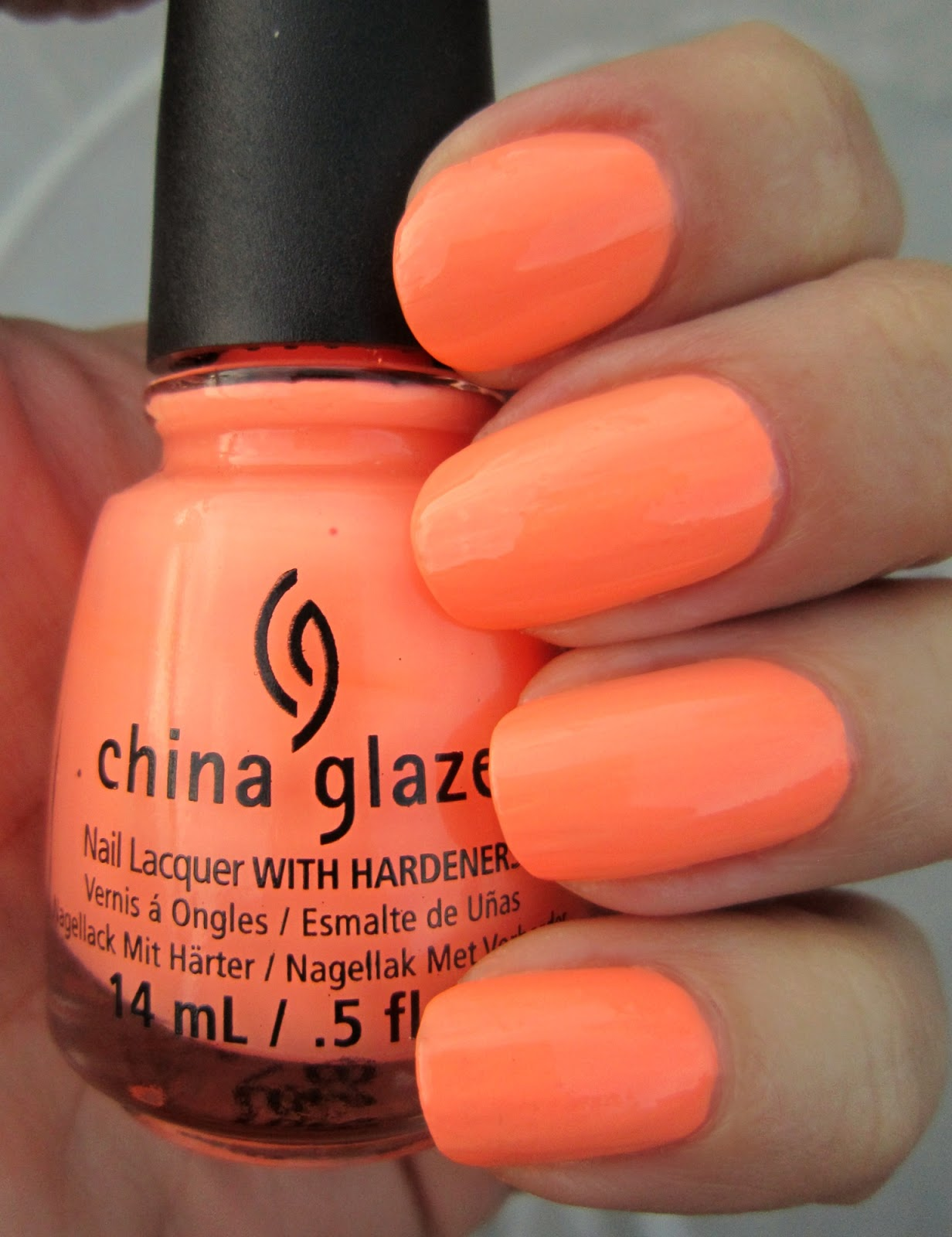 Concrete and Nail Polish: China Glaze Sun Of A Peach