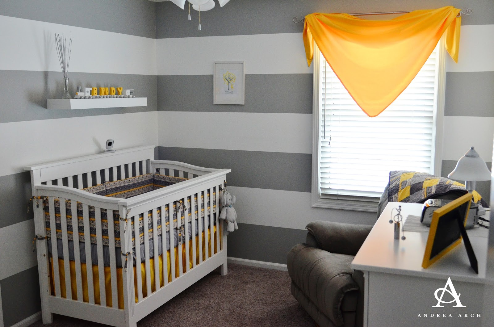 Andrea Arch: Yellow + Grey Gender Neutral Nursery