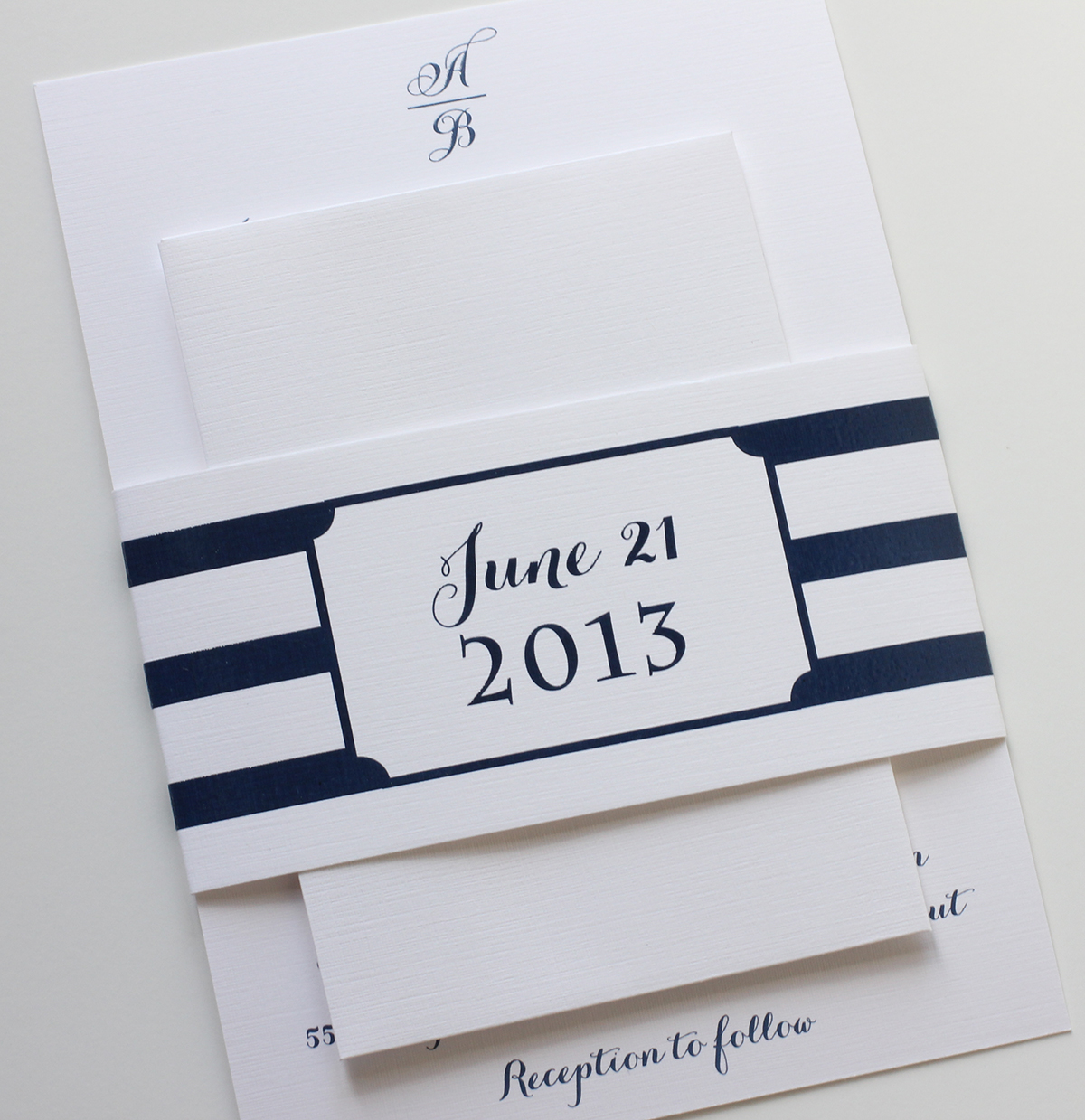 Nautical Navy Wedding Invitations | Blush Paperie