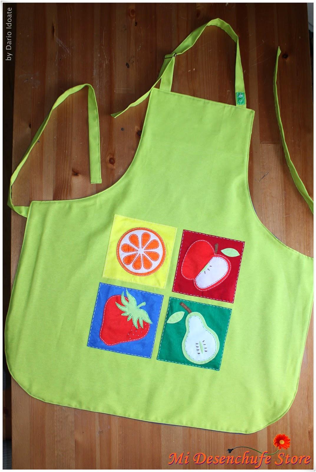 Mi desenchufe store delantal cocina va de frutas for Delantales para ninos cocina