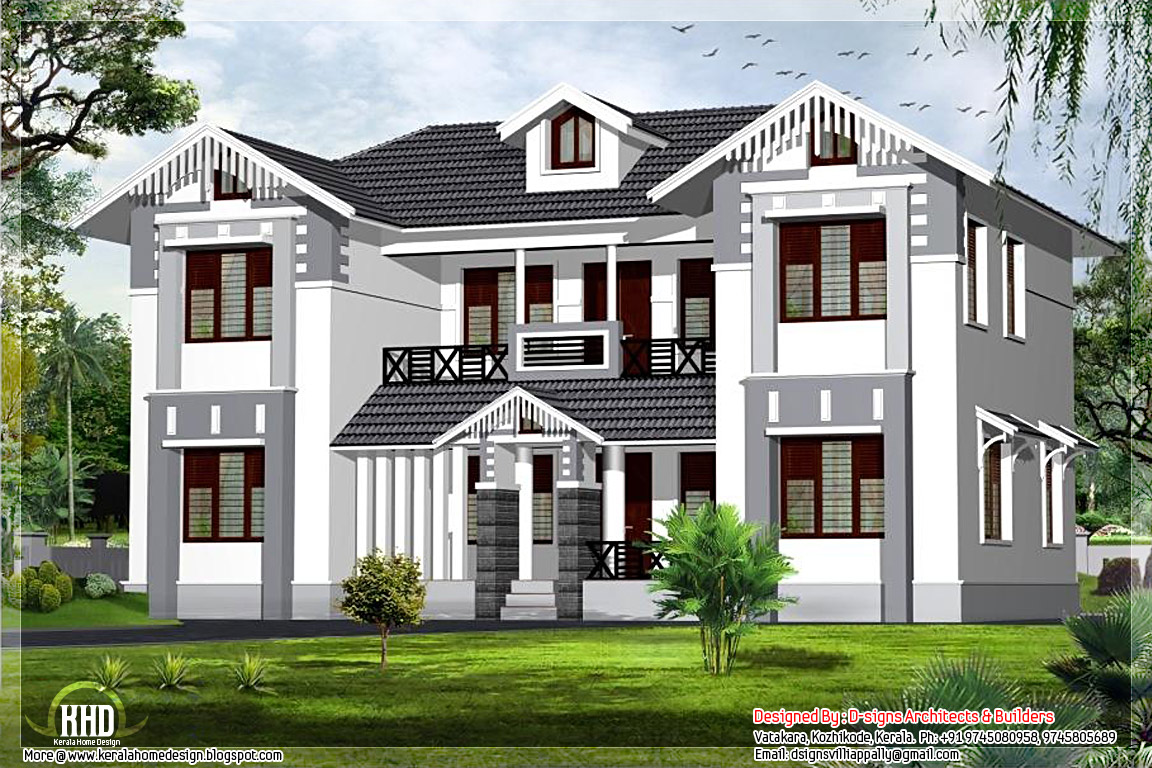 August 2012 kerala home design and floor plans Designer houses in india