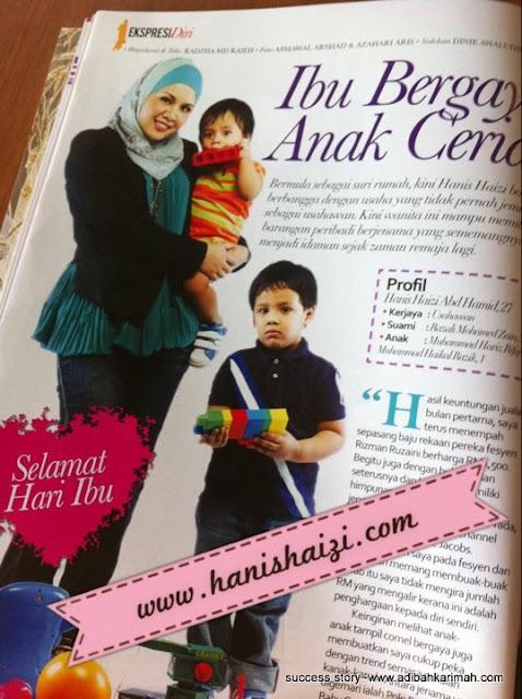 hanis haizi terkenal sebagai peneraju perniagaan premium beautiful corset menggunakan internet marketing