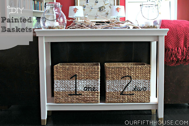 DIY Numbered Storage Baskets