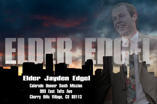 Elder Jayden Spencer Edgel