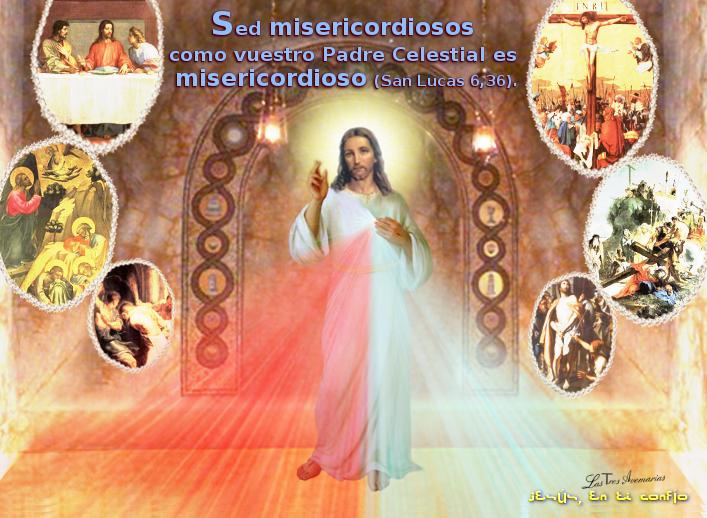 divina misericordia con mensaje de la biblia