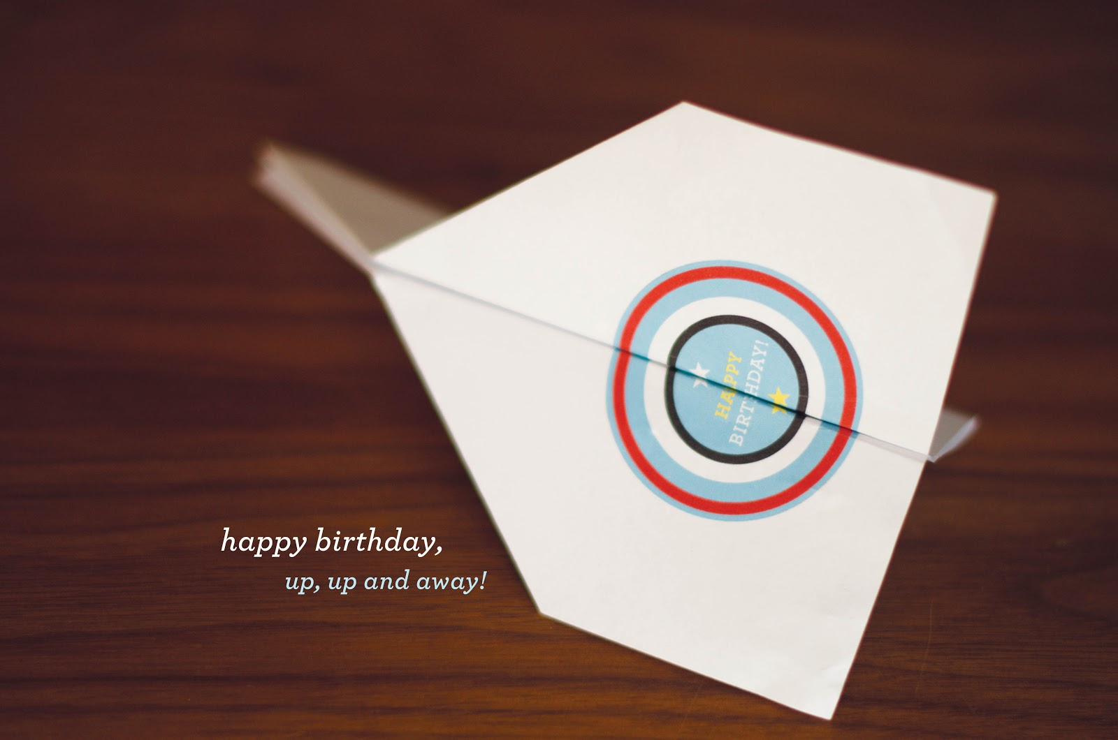 Paper Airplane Birthday Cards