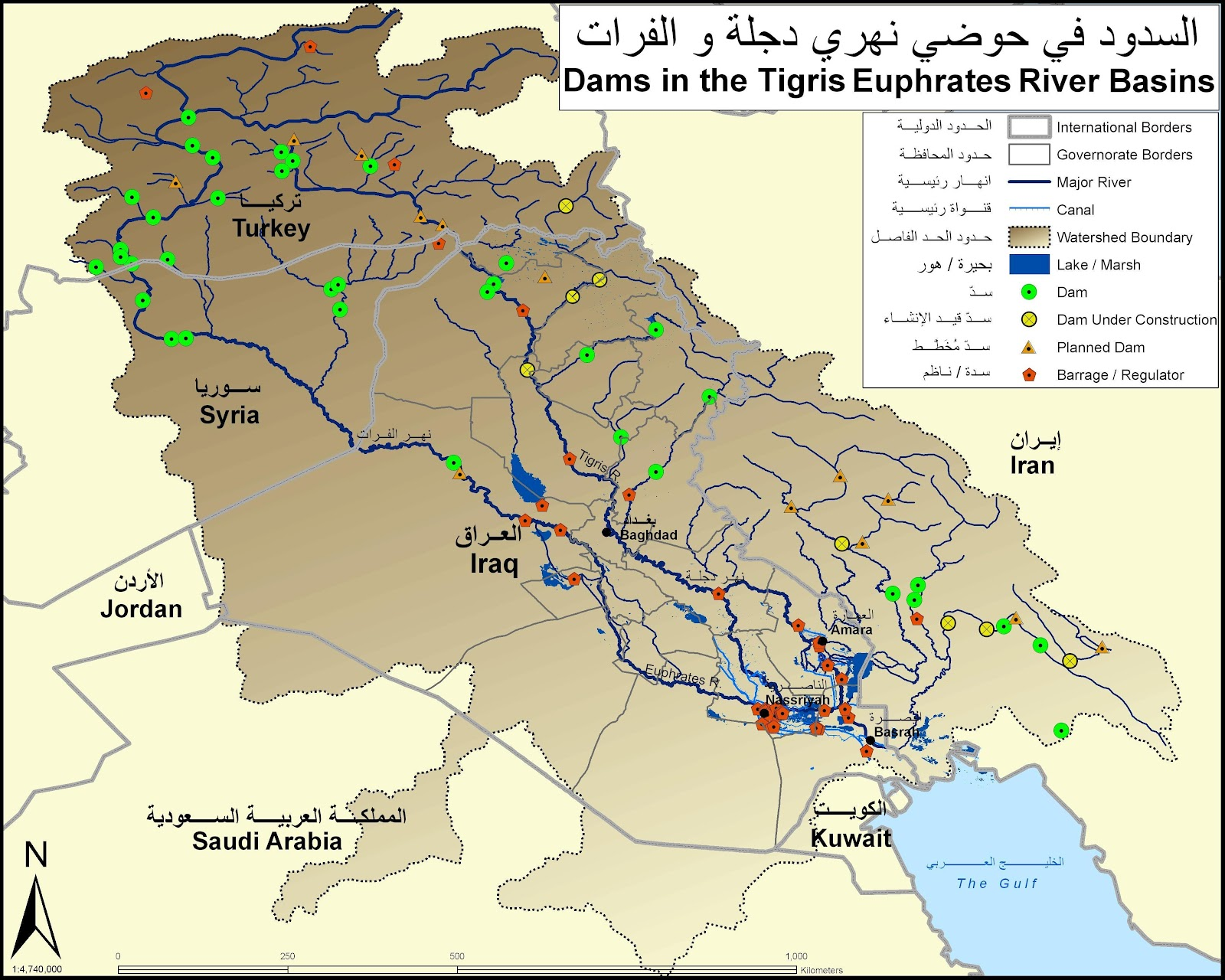 UN Iraq Needs To Address Dropping Water Levels In Euphrates And - Euphrates river on world map