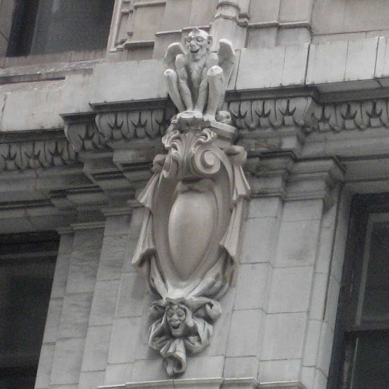 Emmit Building Gargoyle - Looking quite pleased.