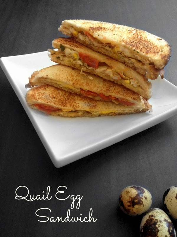 Quail Egg Sandwich