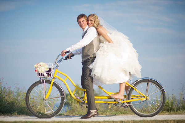 131 Tandem Bike wedding